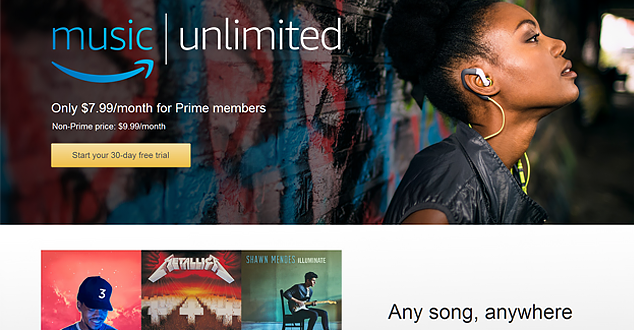 Amazon Launches Unlimited Music Streaming Service