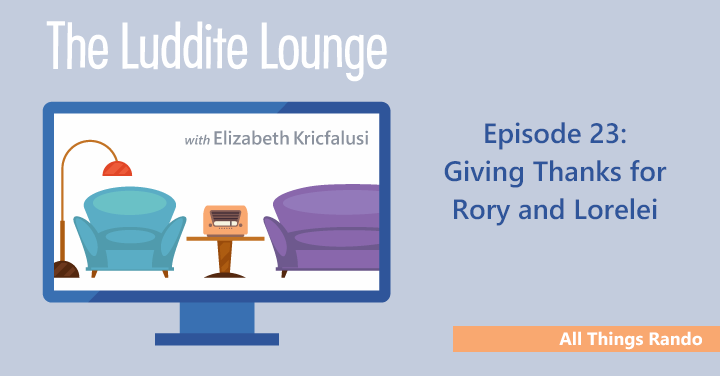 All Things Rando: Giving Thanks for Rory and Lorelei